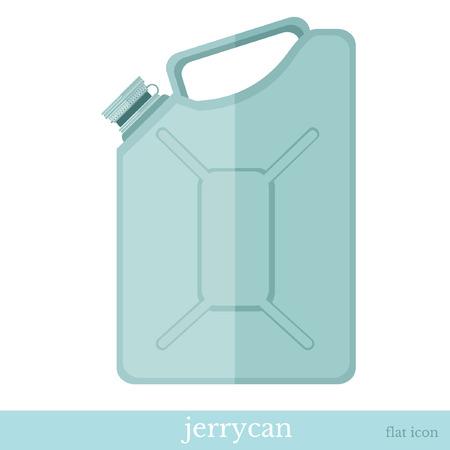 reservoir: jerrycan flat icon on white Illustration