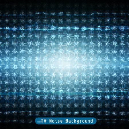 블루 텔레비젼 소음 기하학적 모자이크 배경 무늬