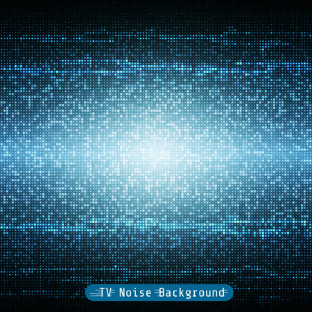 blue tv noise geometrical mosaic background pattern Ilustração