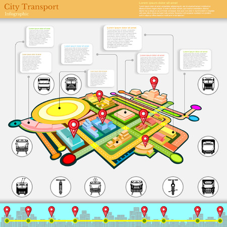 trackless: city transport infographic abstract city diagrams and transport