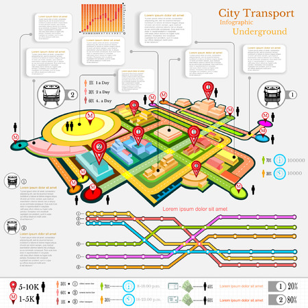 city transport infographic abstract city diagrams and transport underground