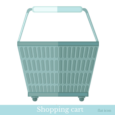 shoping: hand shoping basket back view Illustration