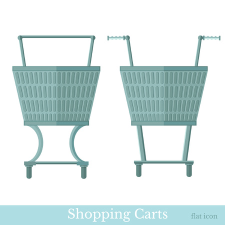 shopping carts: shopping carts front view