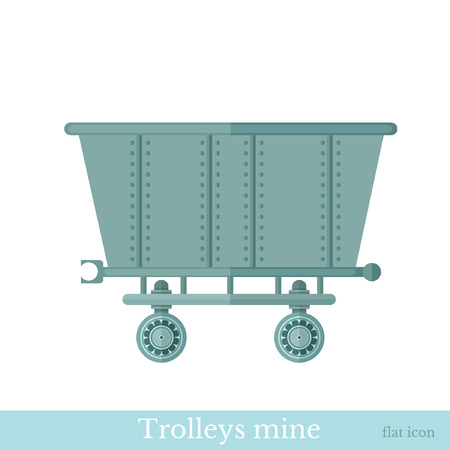resourse: flat trolley mine on white Illustration