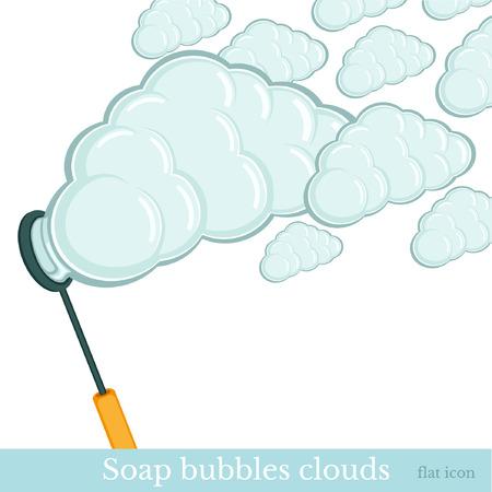 bulles de savon: bulles de savon nuages ??fond Illustration