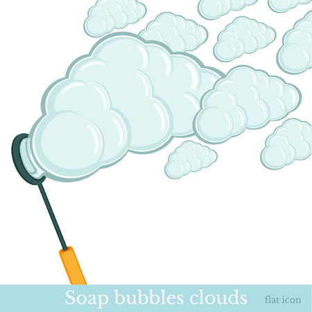 soap bubbles clouds background