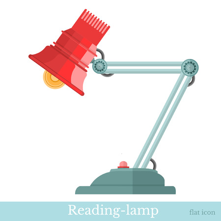 flexible business: flat reading-lamp isolated on white