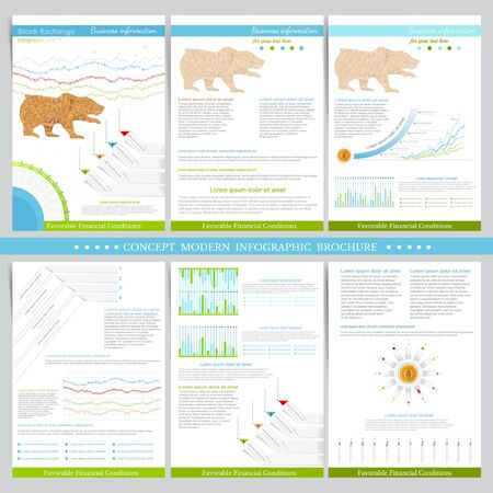 adverse: Infographics elements in flat concept stock exchange style. Use for marketing, flyer, corporate report, presentation, print, presentation etc.