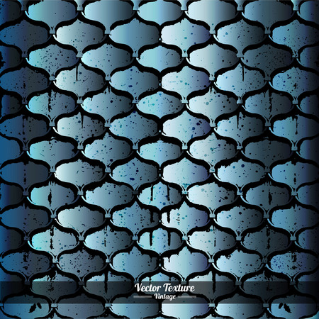cast iron: cast iron grid background with dirty blue grunge texture