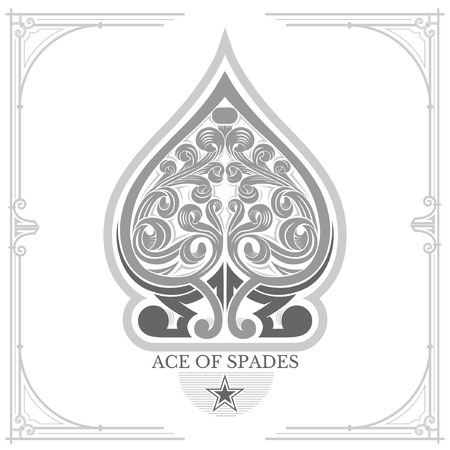 ace of spades: Ace of spades with floral pattern inside Illustration