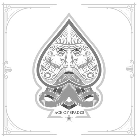 ace: Ace of spades with Neptune face inside