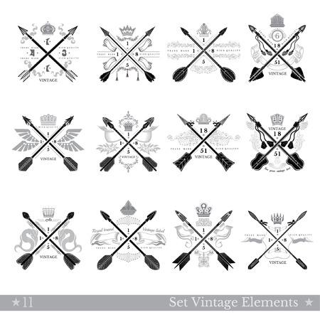 Cruzadas Vintage Flecha Tatuajes Plantillas Wwwimagenesmycom