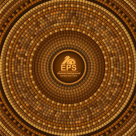 Round greek tile geometric background