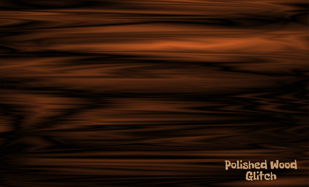 Brown wave wood texture vector mesh background in glitch style