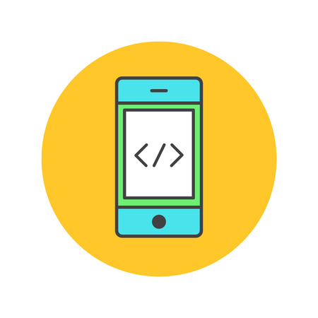 developing: Vector Icon Style Illustration Front End Developing, Mobile Application, Coding, Programming