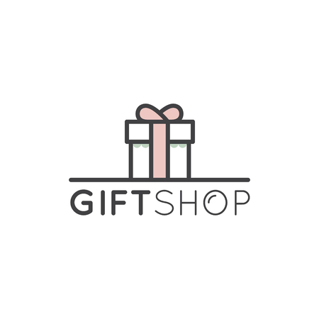 Vector Icon Style Simple Logo Illustration for Gift Shop or Event Company