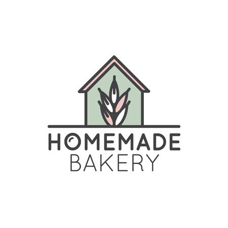 Vector Icon Style Simple Logo Illustration for Bakery Shop or Market