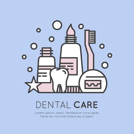 Isolated Vector Style Illustration Logo Badge or Dental Care and Disease, Treatment Concept Illusztráció
