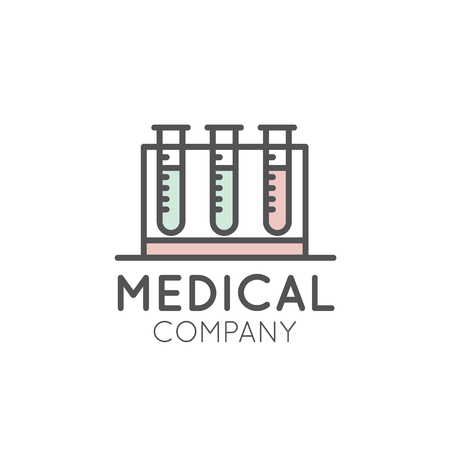 Vector Icon Style Illustration Logo for Medical Pharmacy, Lab, Clinic, Medicine Company, Distributor or Producer