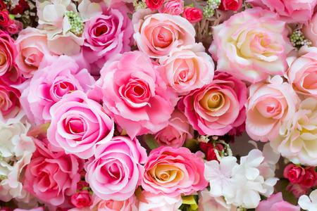 rosas rosadas: De color suave de fondo Roses Foto de archivo
