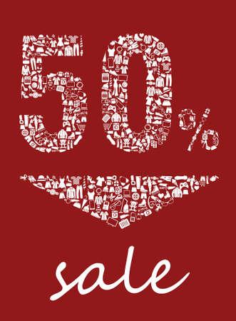 50 sale Illustration