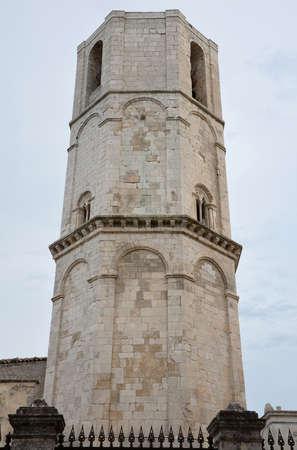 monte sant angelo: Octagonal tower of Saint Michael Archangel Sanctuary, Monte SantAngelo, Italy Stock Photo