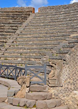Odeion (small theatre) in ancient Pompeii Stock Photo - 29468315