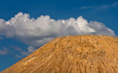 landfills: Artificial hills as a result of mining and production of copper