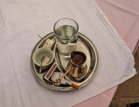 traditionally: Traditionally served Bosnian coffee