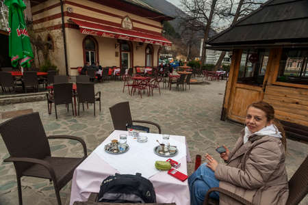 bosnia hercegovina: Enjoying traditionally served Bosnian coffee