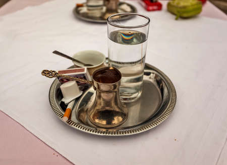 match box: Traditionaly served Bosnian coffee