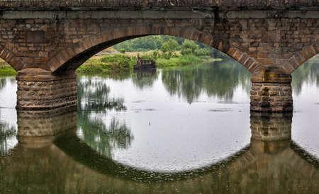 Old bridge made of stone in Pavlikeni, Bulgaria
