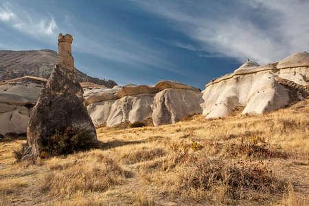 rock formation: Rock formation in Capadocia Turkey Stock Photo