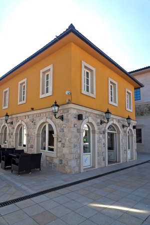 visegrad: Coffee shop in Andricgrad Visegrad Bosnia and Herzegovina, photo taken 29.3.2015. Editorial
