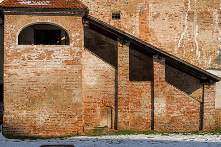 travel features: The old fort built of bricks in Cakovec, Croatia. Home of Zrinski