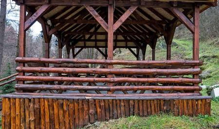 bower: Bower made of beech logs