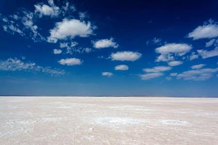 Salzseenwüste in der Türkei Standard-Bild
