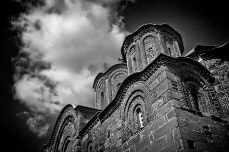 Staro Nogoricane Kumanovo, Macedonia - September 22, 2016: The Church of St. George (Crkva Svetog Djordja) is a Macedonian Orthodox church in the village of Staro Nagoriaane, near Kumanovo in the Republic of Macedonia.