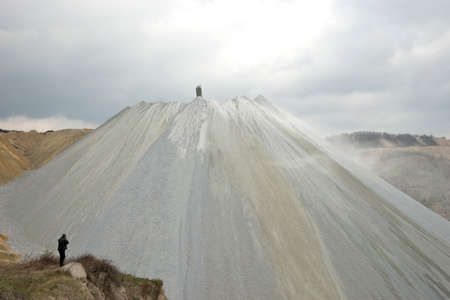 tailings: Tray tailings in the open pit copper mine Editorial