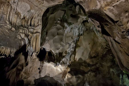 glowworm: Caves and cave formations in the canyon of the river next to Bor in Serbia
