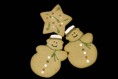 Gingerbread cookies including snowmen and star shaped ones Stock Photo - 6700163