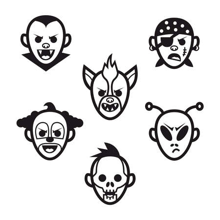 Halloween costumes and masks