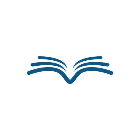 Flying Bird Book vector logo. Luxury bird book design vector template. Logo