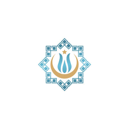 Islam and Muslim logo design icon design vector
