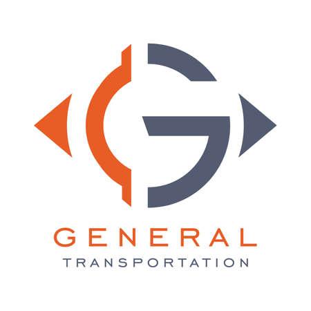 General Transportation Logo, transport travel logo