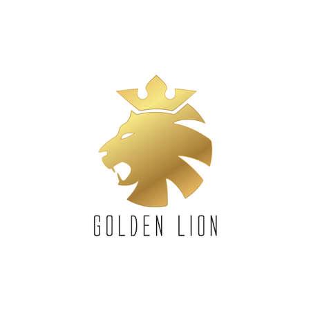 King Lion Head Logo Template