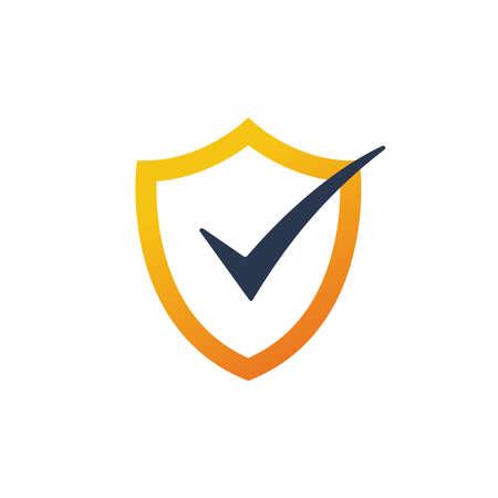 Shield okay logo icon design template elements