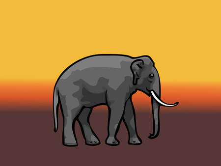 biggest animal: Elephant Illustration