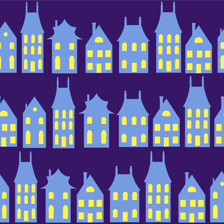 Old Holland cityscape seamless background  Colorful dutch houses Stock Vector - 29126445