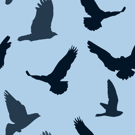 Vector birds background seamless pattern. Vector